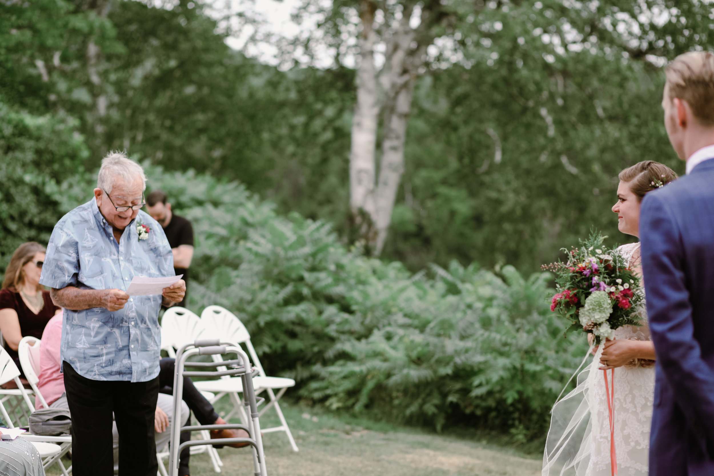 Melanie + James' - Adirondack Wedding