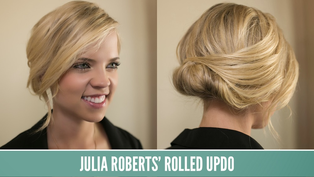 JULIA ROBERTS ROLLED UPDO