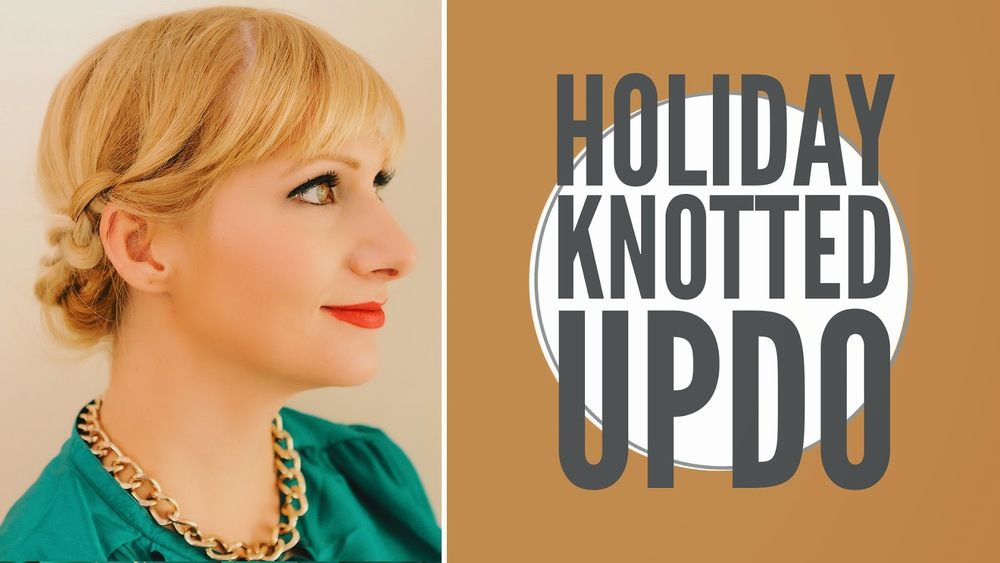 HOLIDAY KNOTTED UPDO