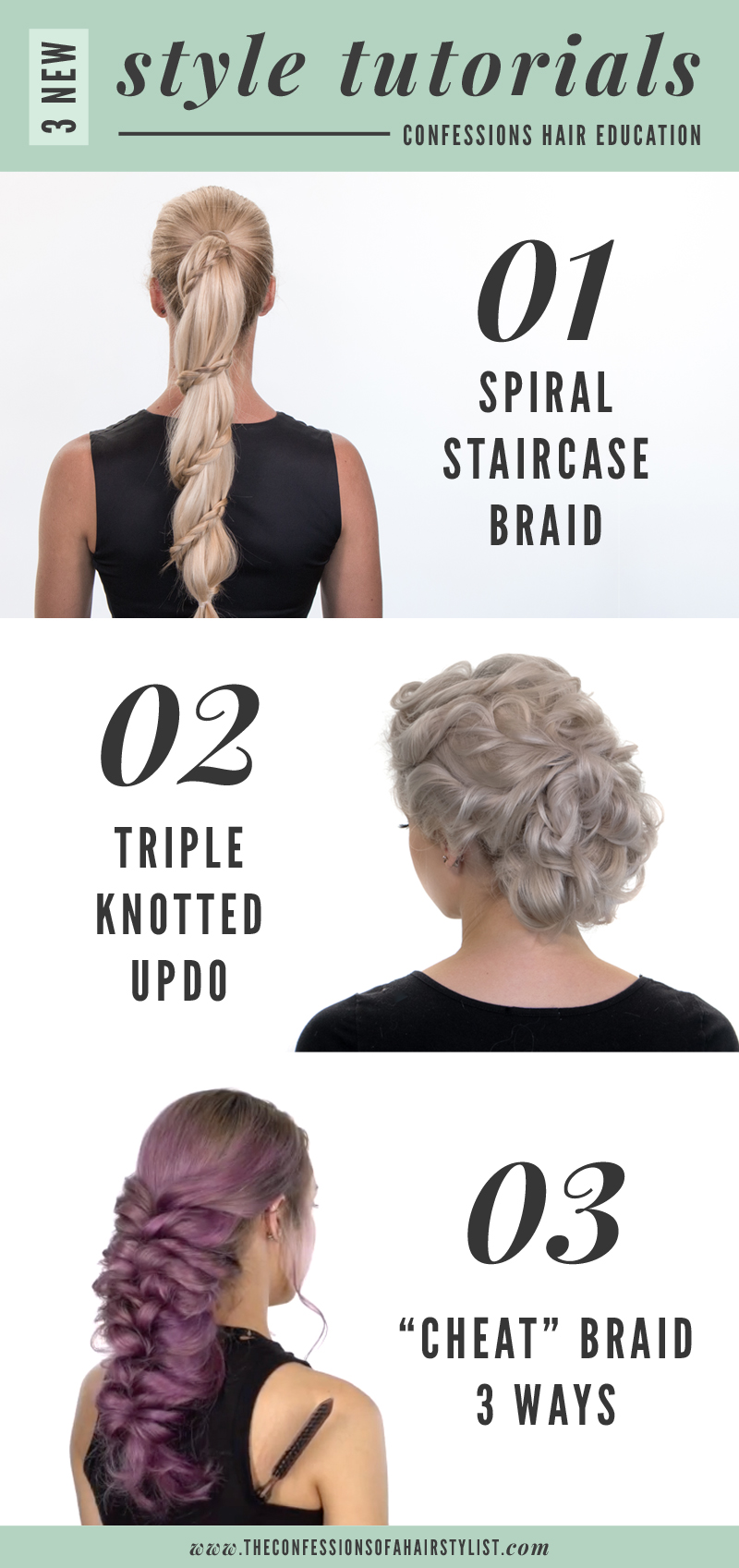 Educational hair stylist app / hair education on your phone from Confessions of a Hairstylist: braids, updos and more