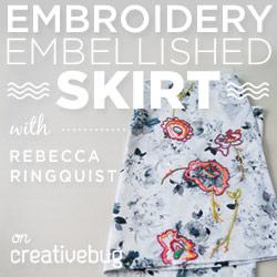 Embroidered Skirt Workshop