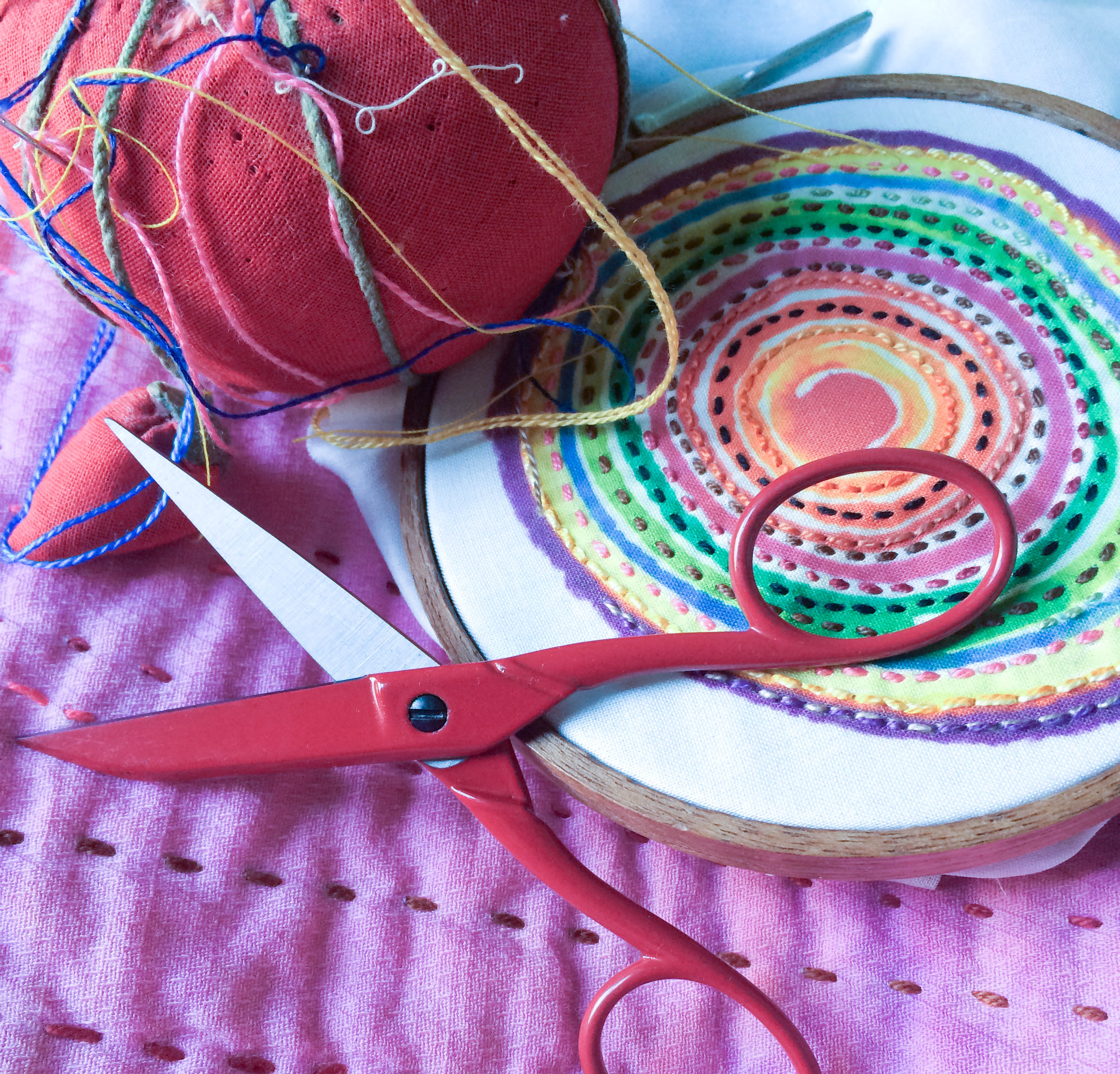 Stay tuned this weekend for a giveaway that includes these beautiful Red Scissors from Hedgehog Handworks, one of my favorite needlework suppliers......