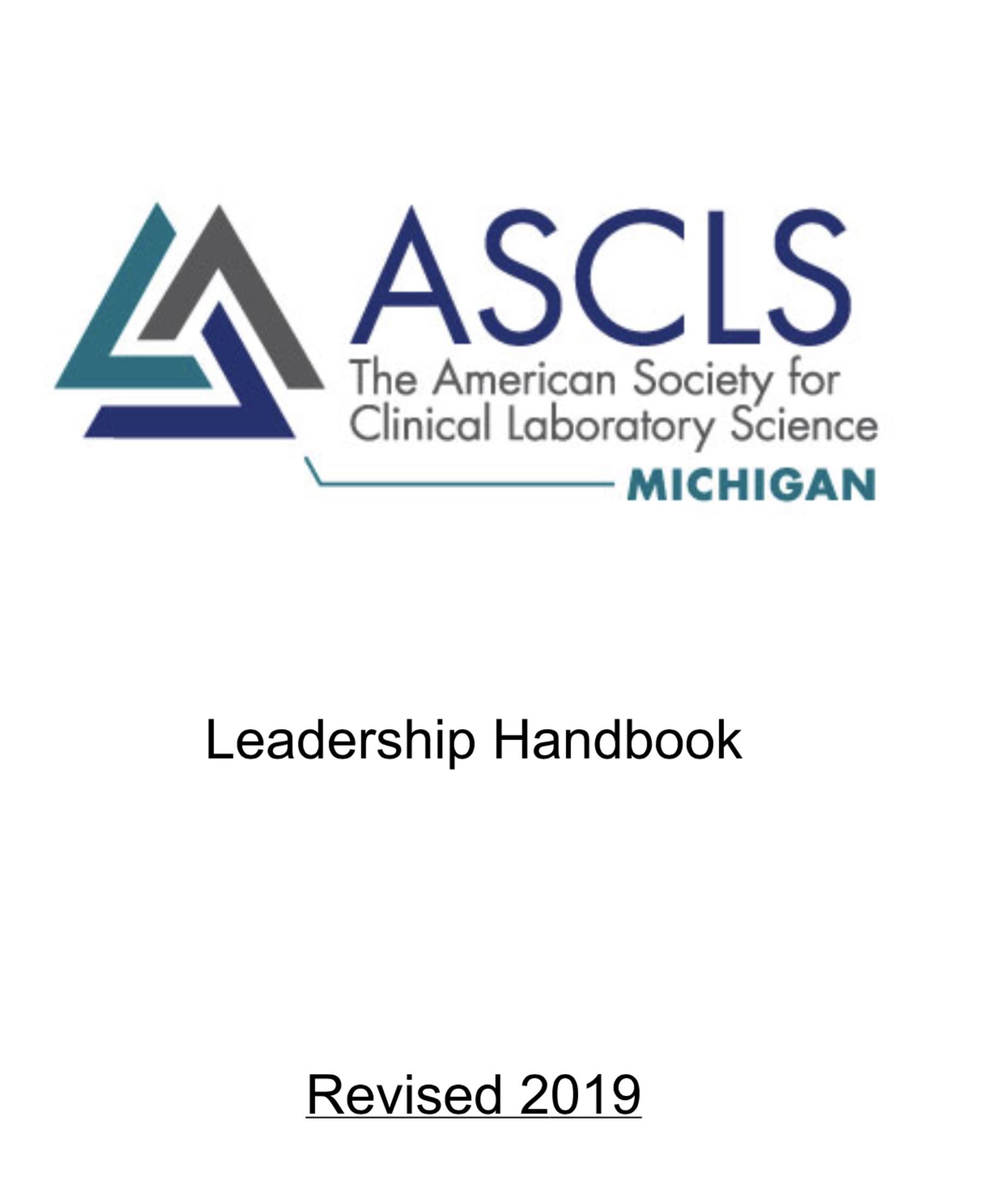 ASCLS-Michigan Leadership Handbook