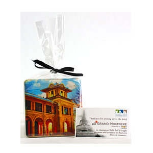 CLEAR GIFT BAG WITH RIBBON