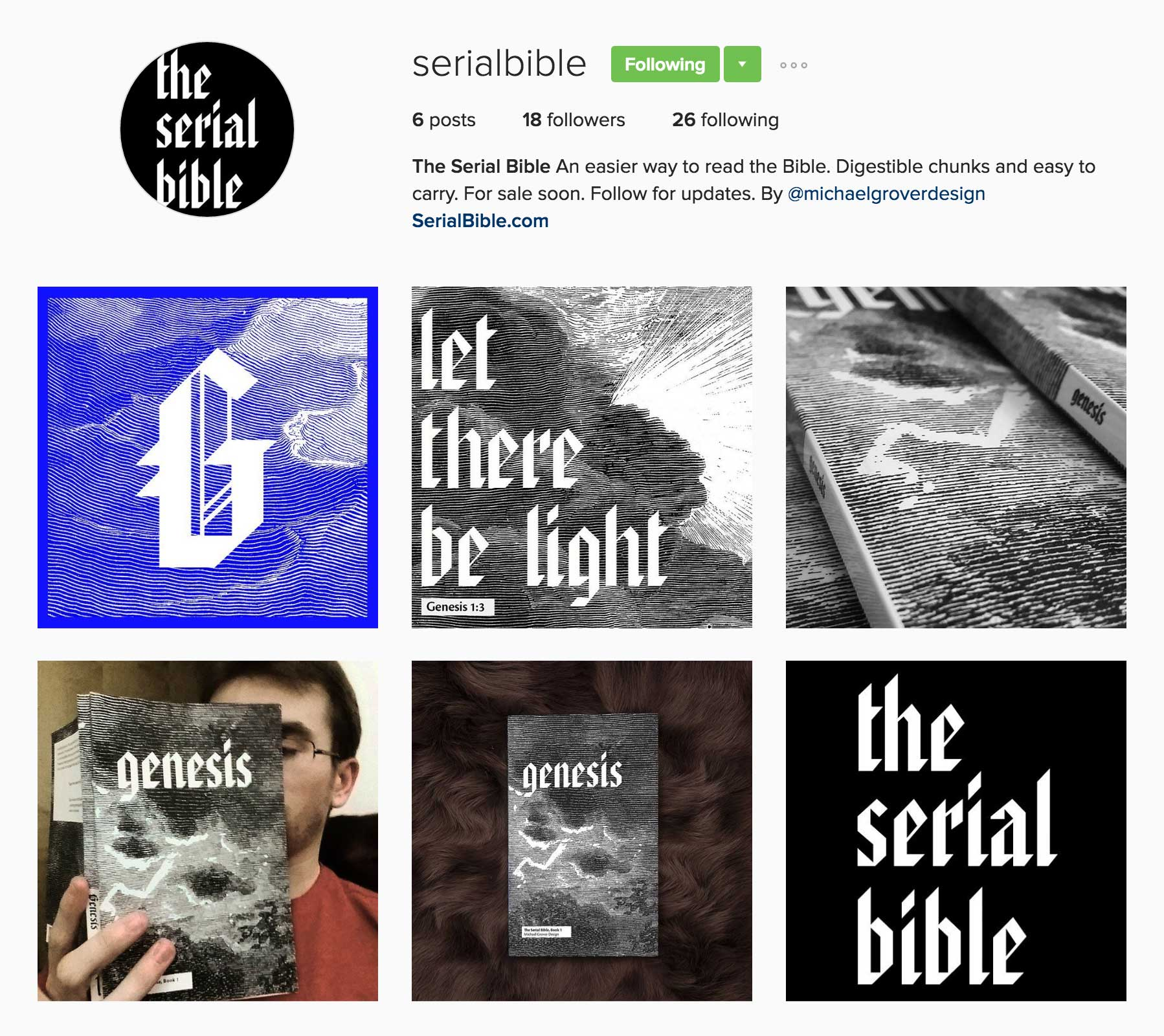 Maintaining an Instagram to drum up interest.  @serialbible
