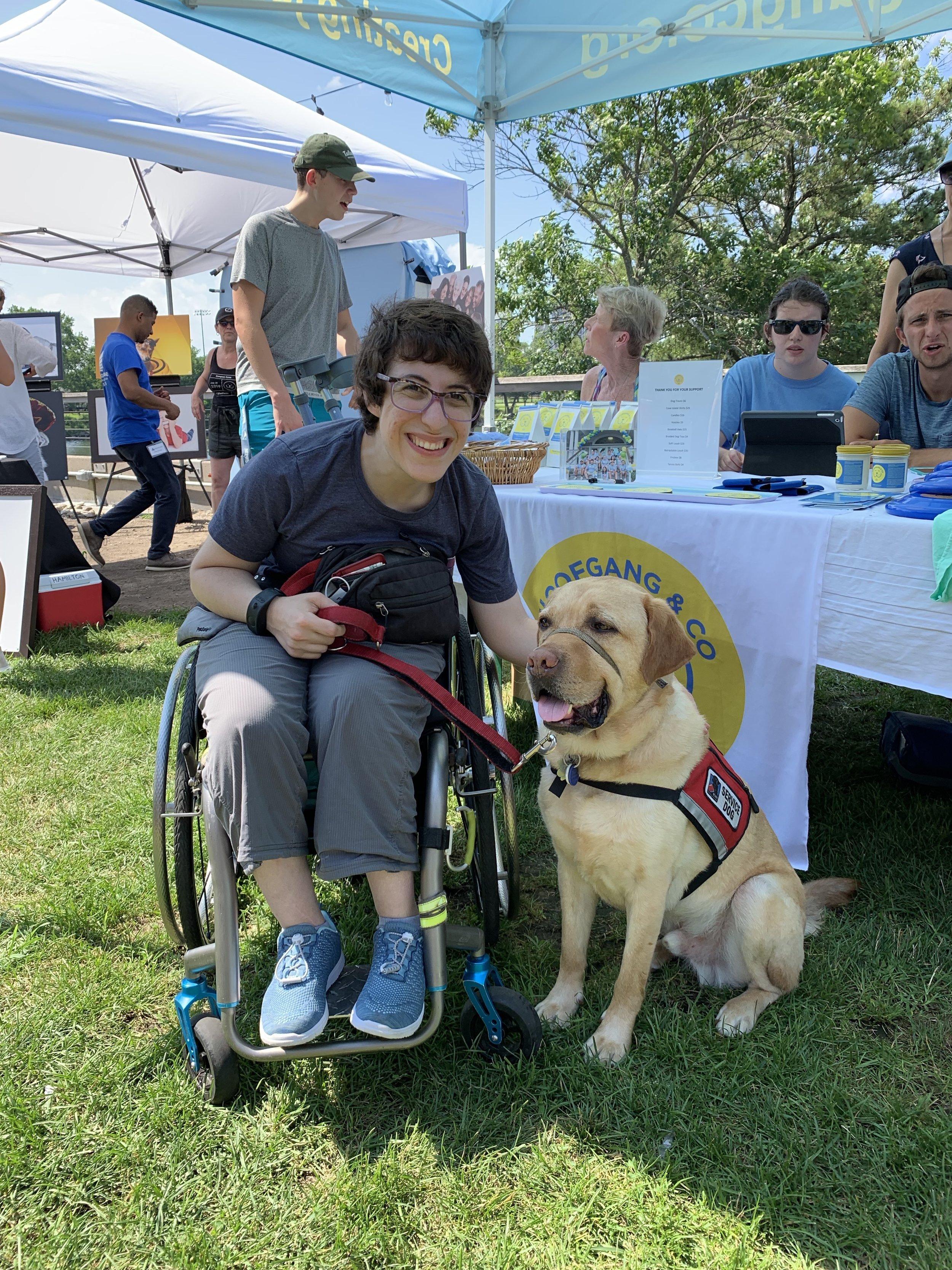 Sarah and her NEADS Service Dog, Edison