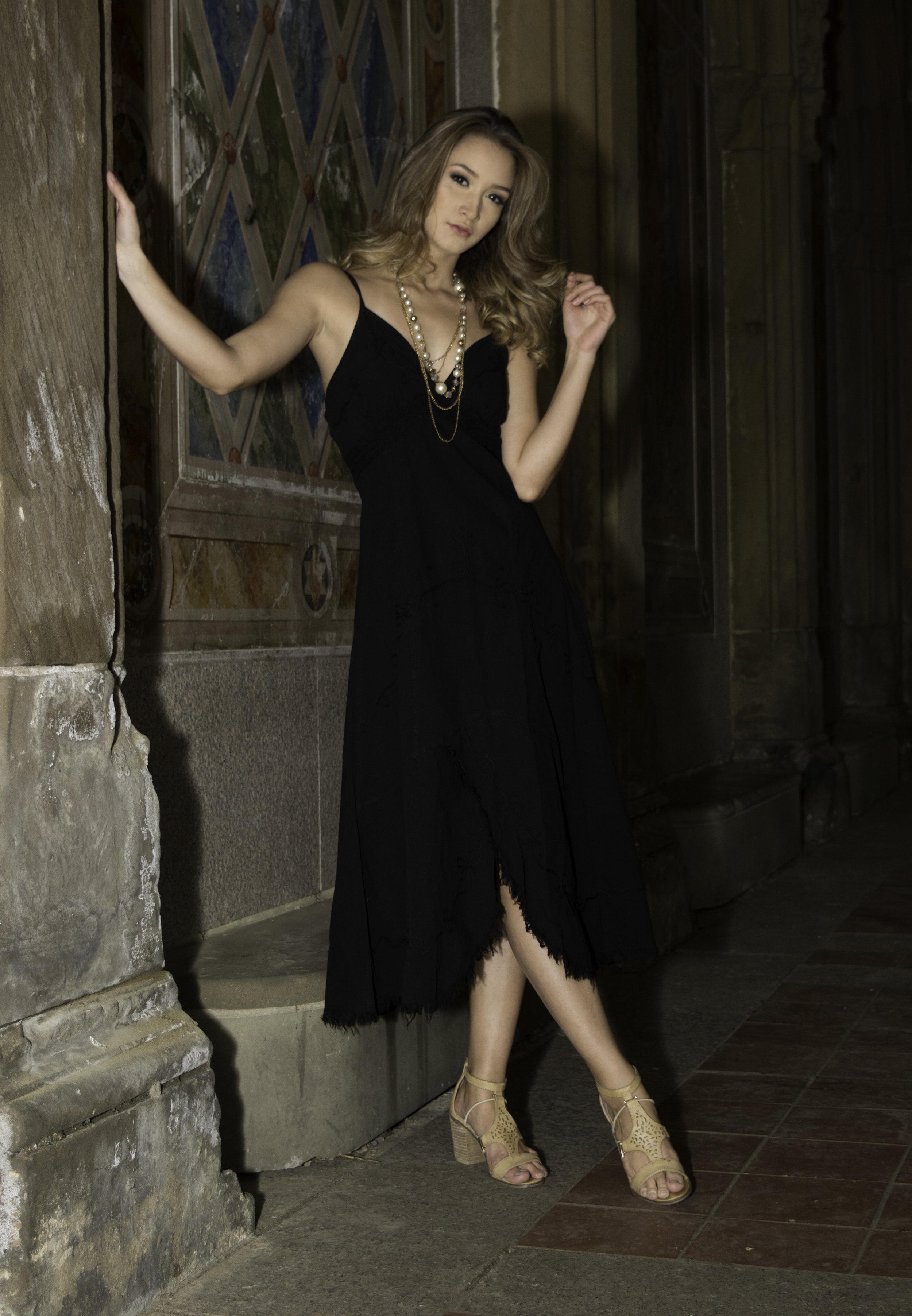 Summer Cotton Dress Natali-Black - Shop on Ebay