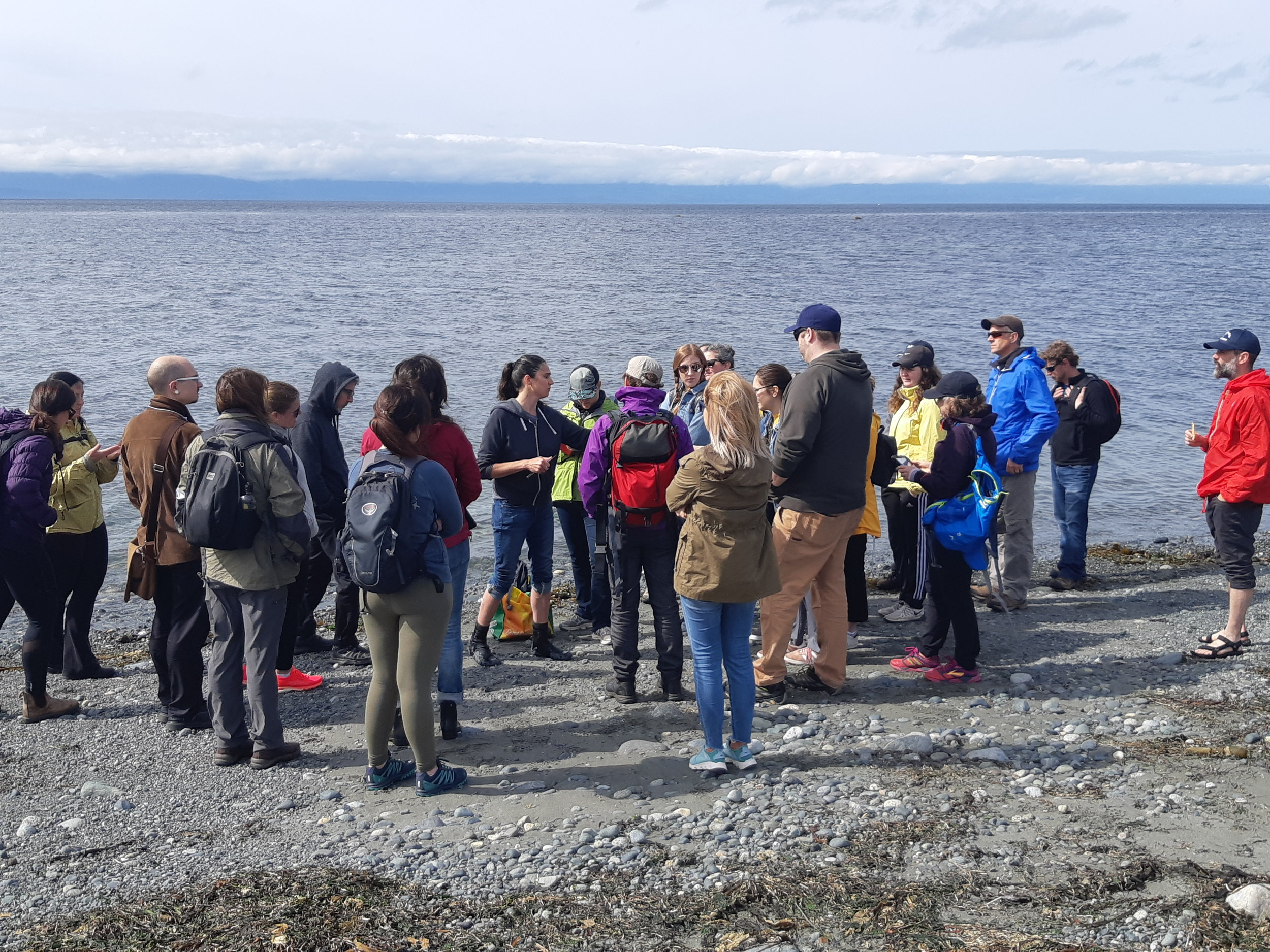 Sarah went on an edible seaweed beach walk while at the conference.