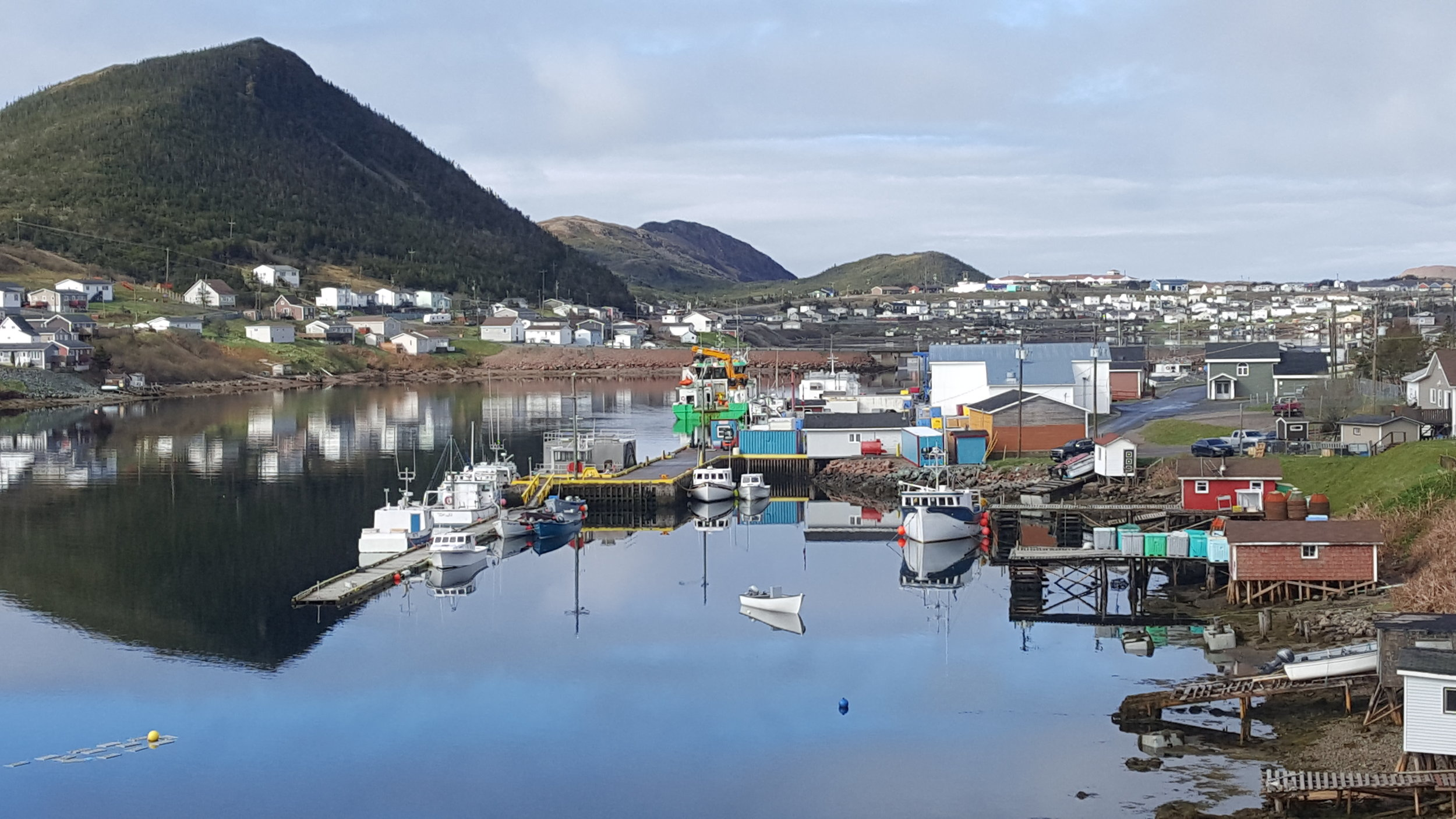 A sunny day in Harbour Breton.