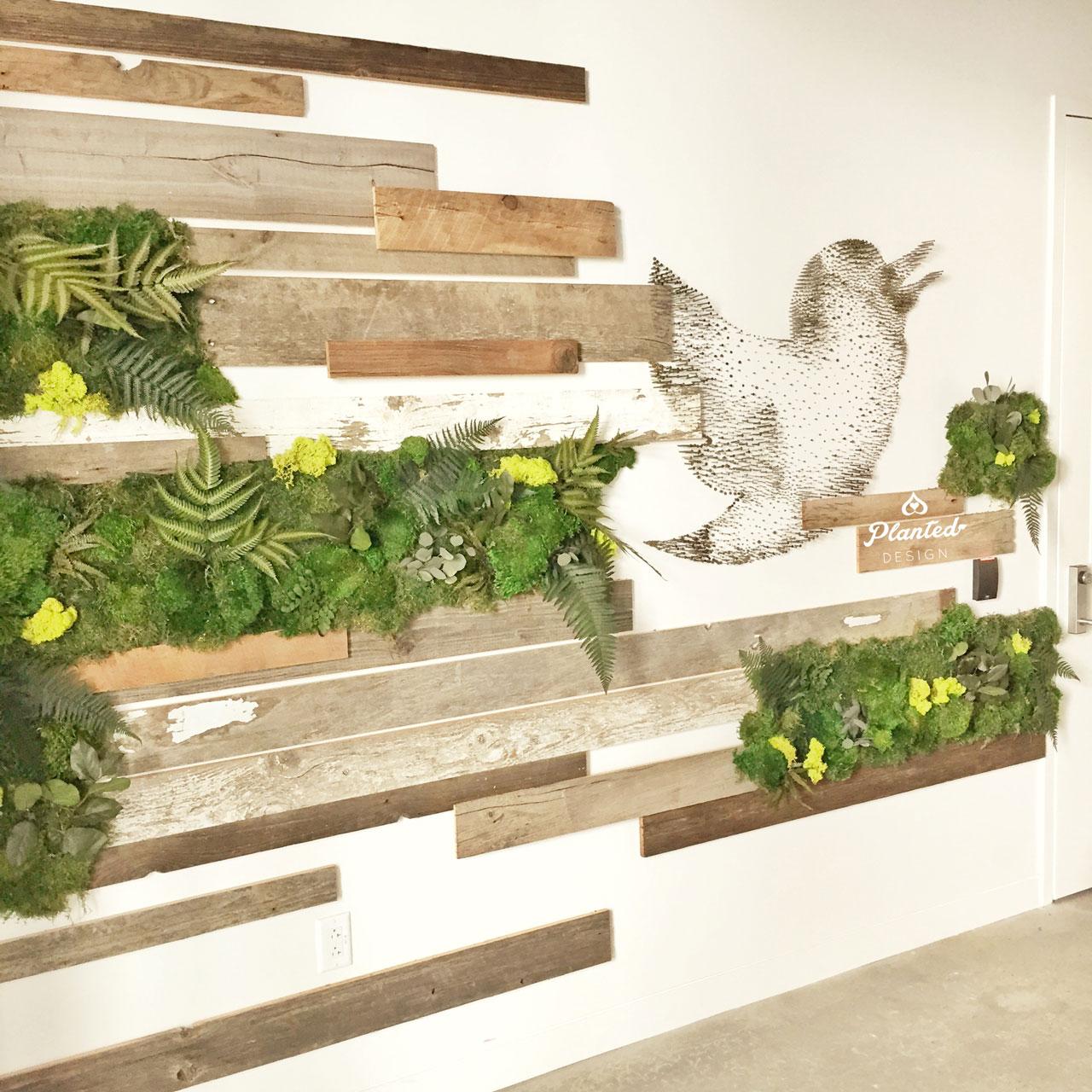 Twitter  - Moss Wall