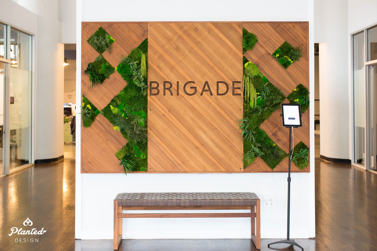 Brigade Branded Moss Wall
