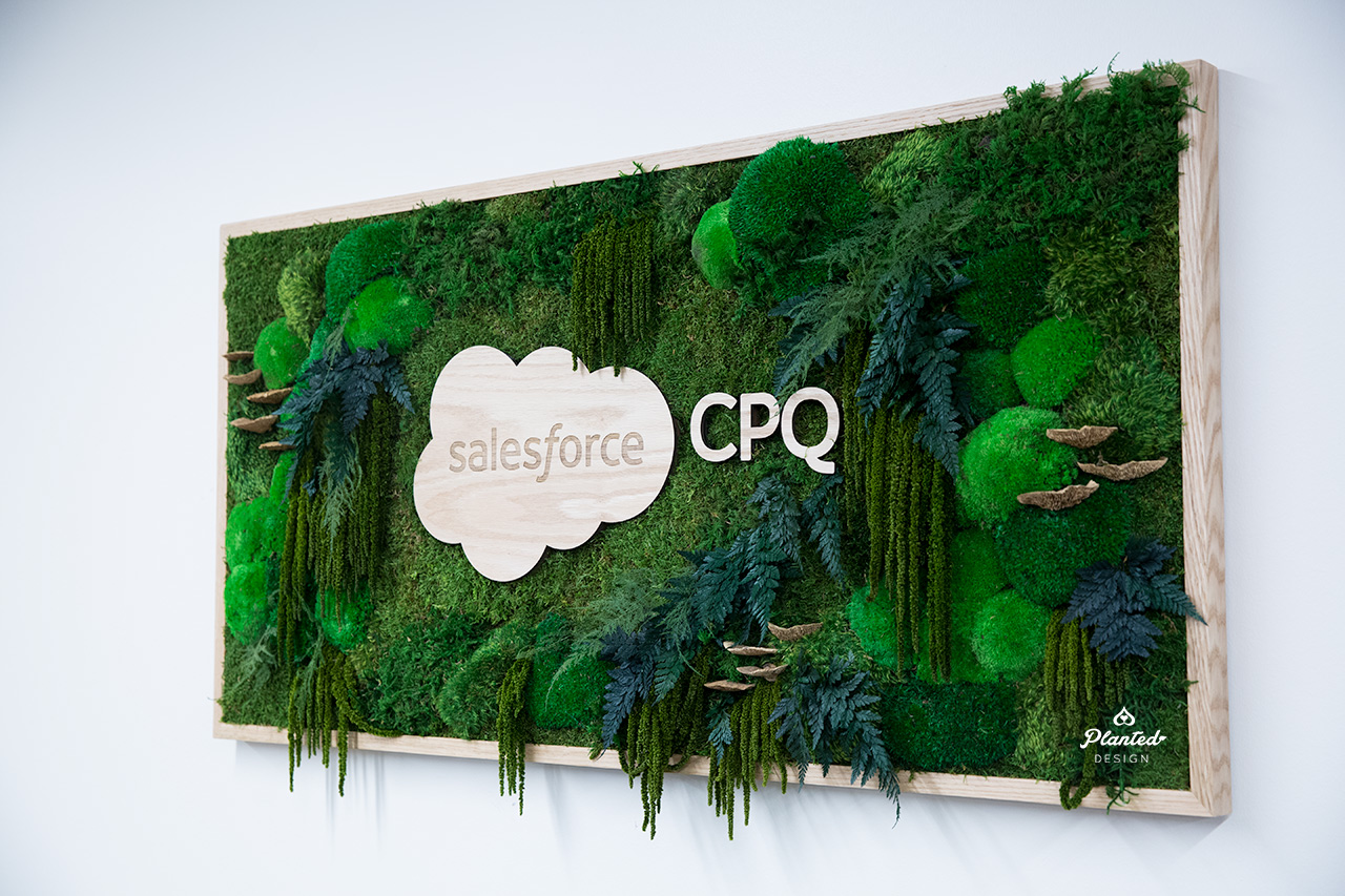 Salesforce  - Moss Plant Painting