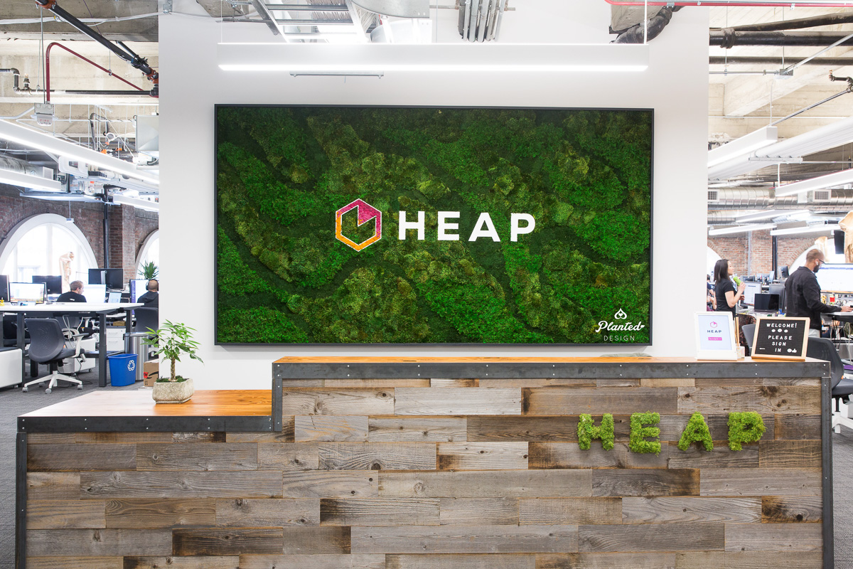 Heap Reception Area  — Moss Wall