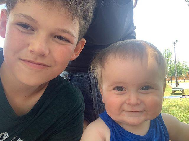 Robbie said he missed Aidan the most. #brothers #bestfriendsforlife #visitingday