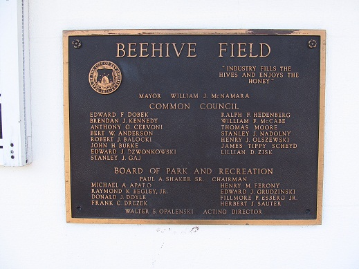 Beehive Field Plaque