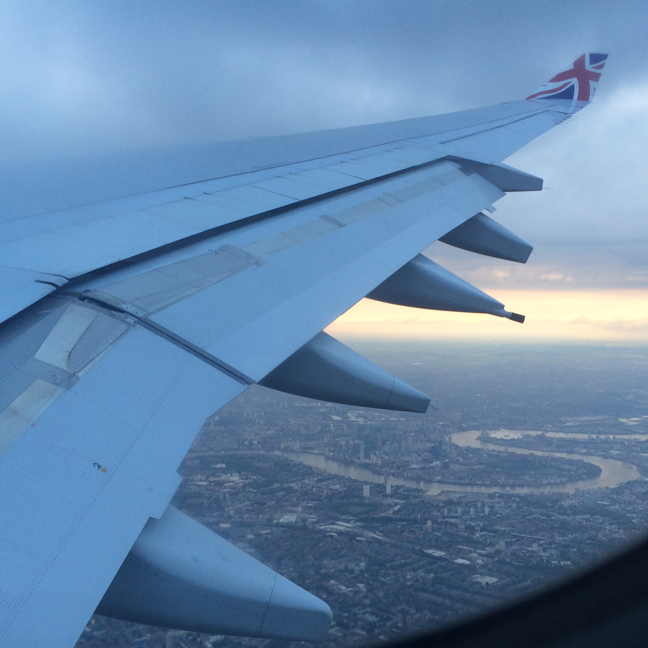Flying over London Town