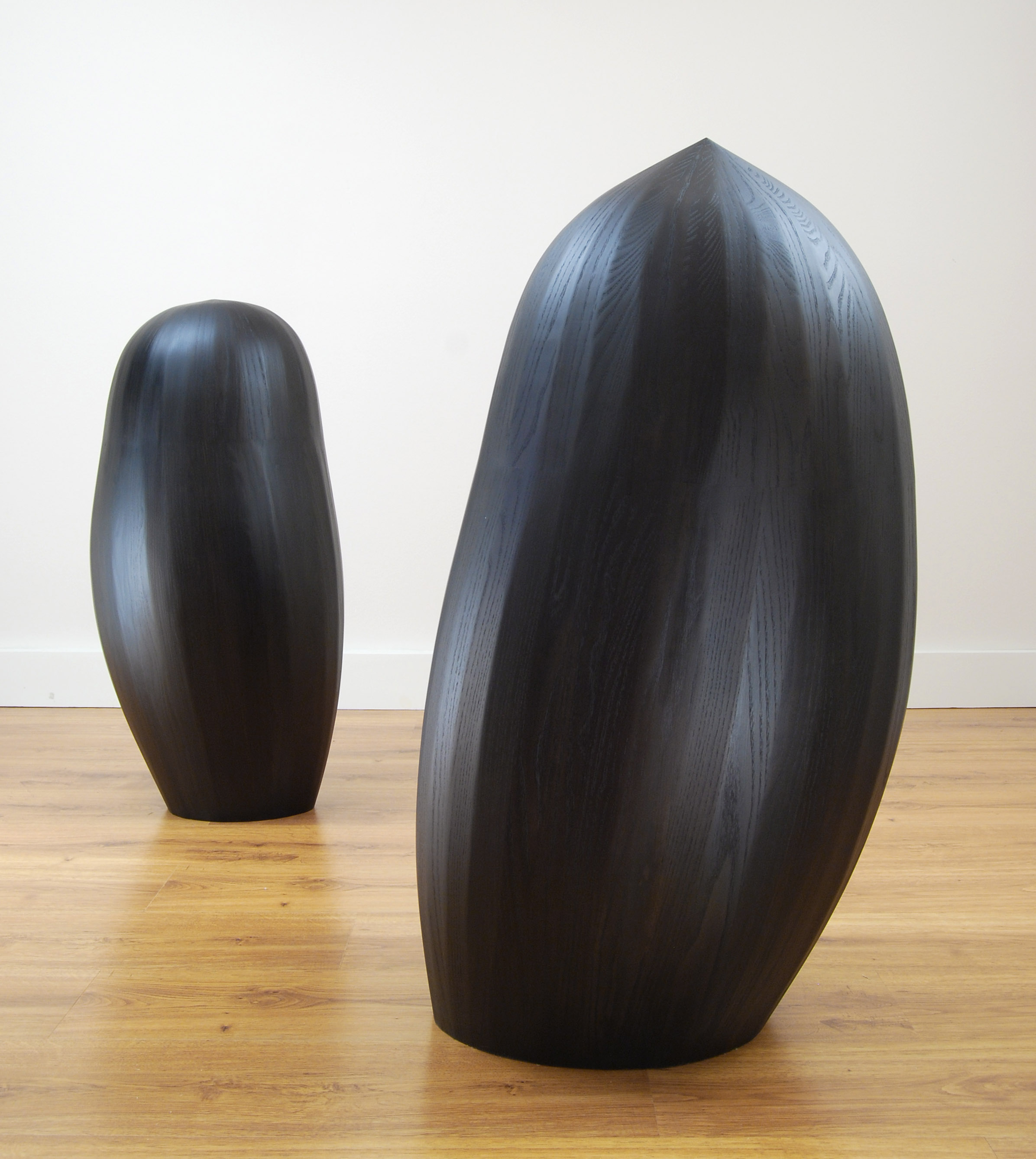 "Seedlings, 2012  Approx. 50 X 25 X 20"" ea.  stained ash"