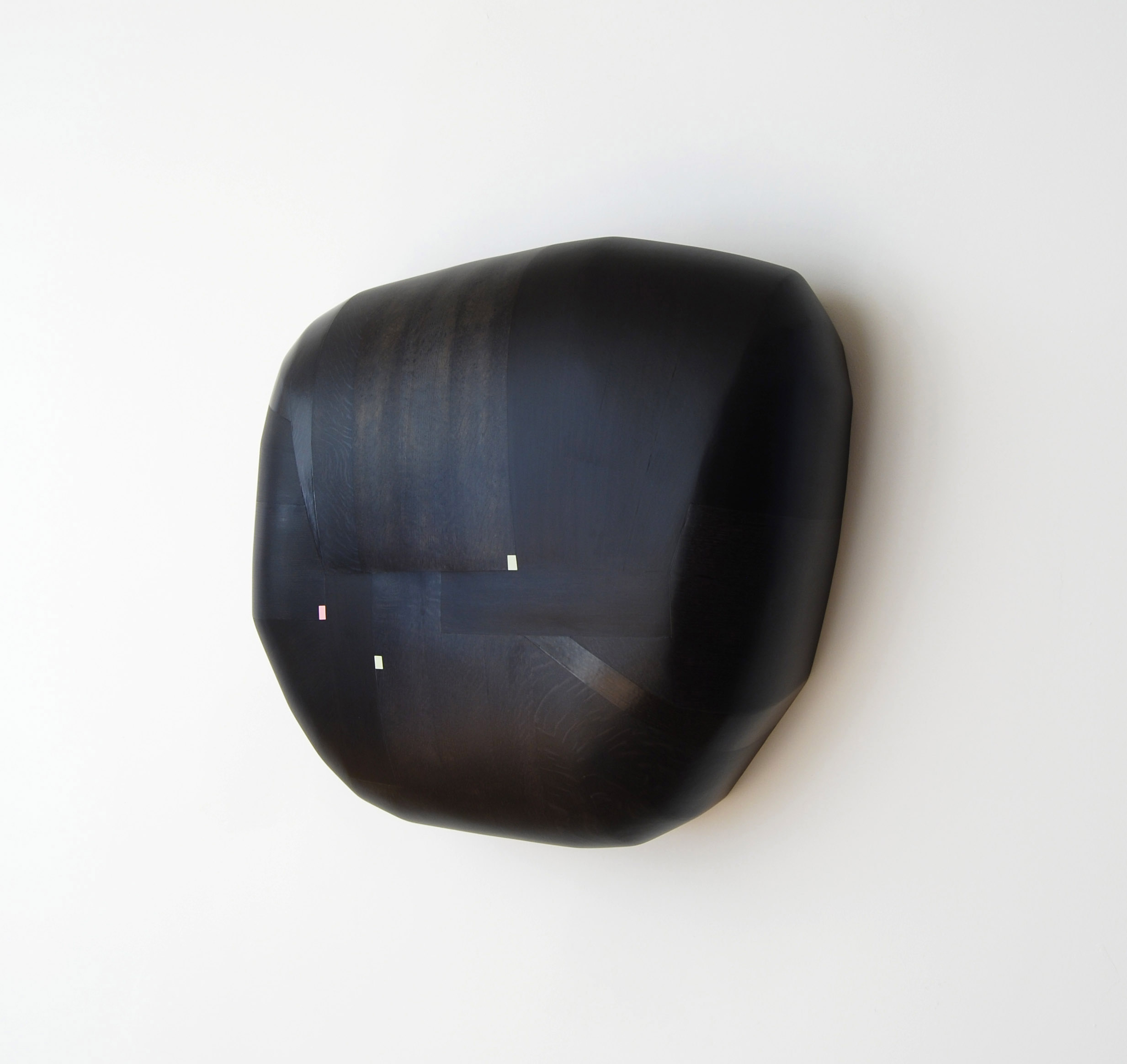 Breastplate, 2018  23 x 25 x 12 inches  wood, stain, paint