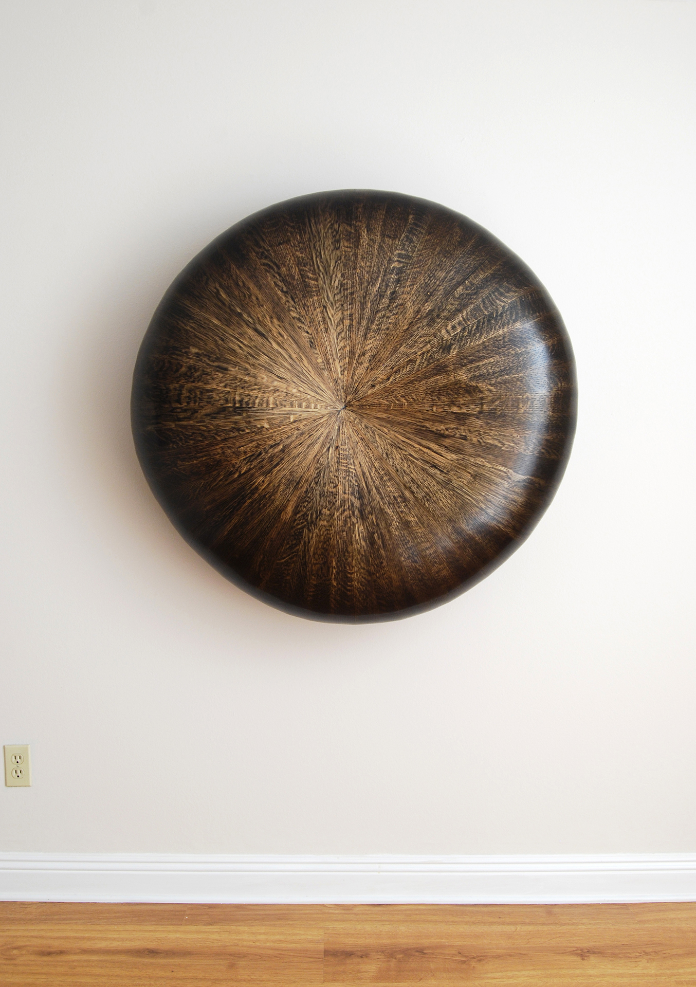 Fifty Six, 2014  43 x 43 x 15 inches  wood, stain