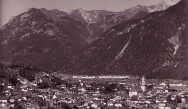 And on this old picture you see the view of the military compounds.
