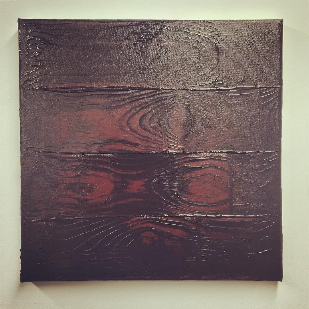 """Wood-grain study for """"The Prodigal Son"""" and """"Noah Built The Ark"""" painting from  God's Trombones  series."""