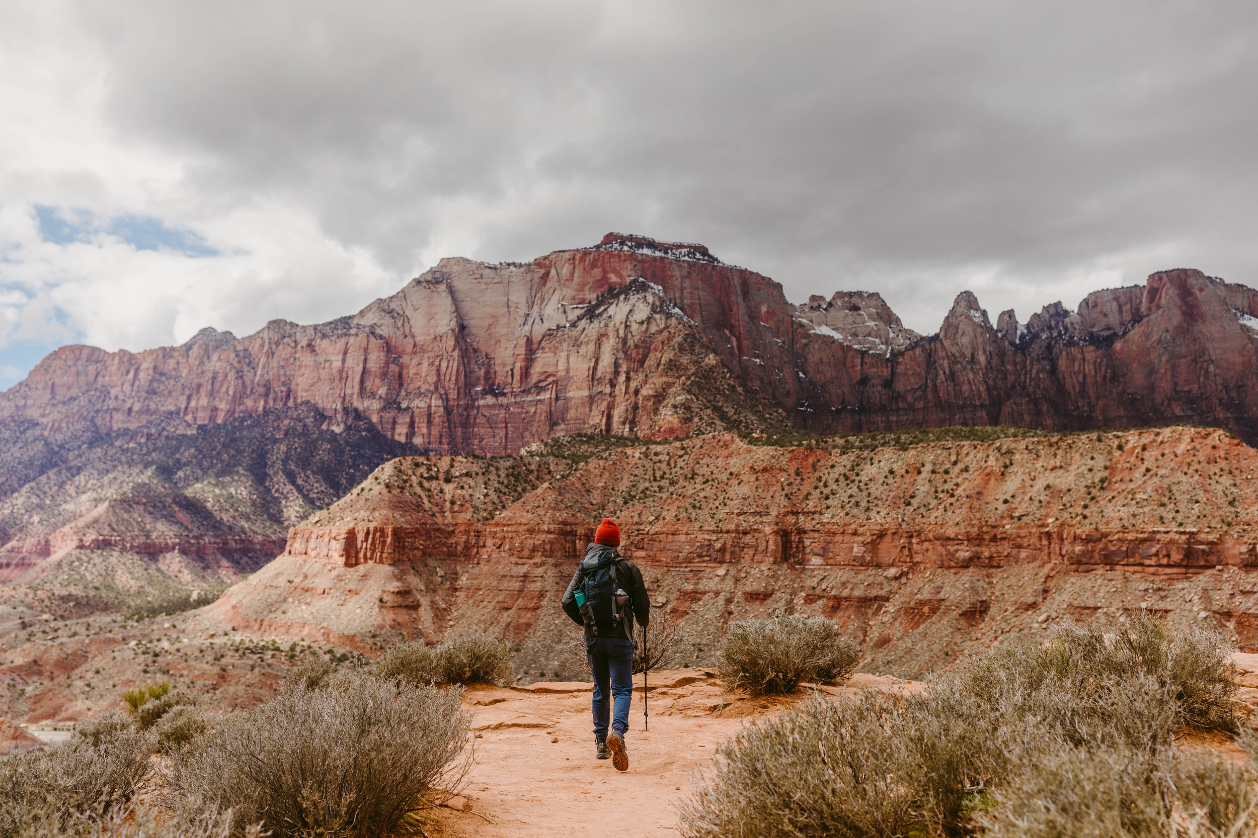 Justin on trail in Zion National Park