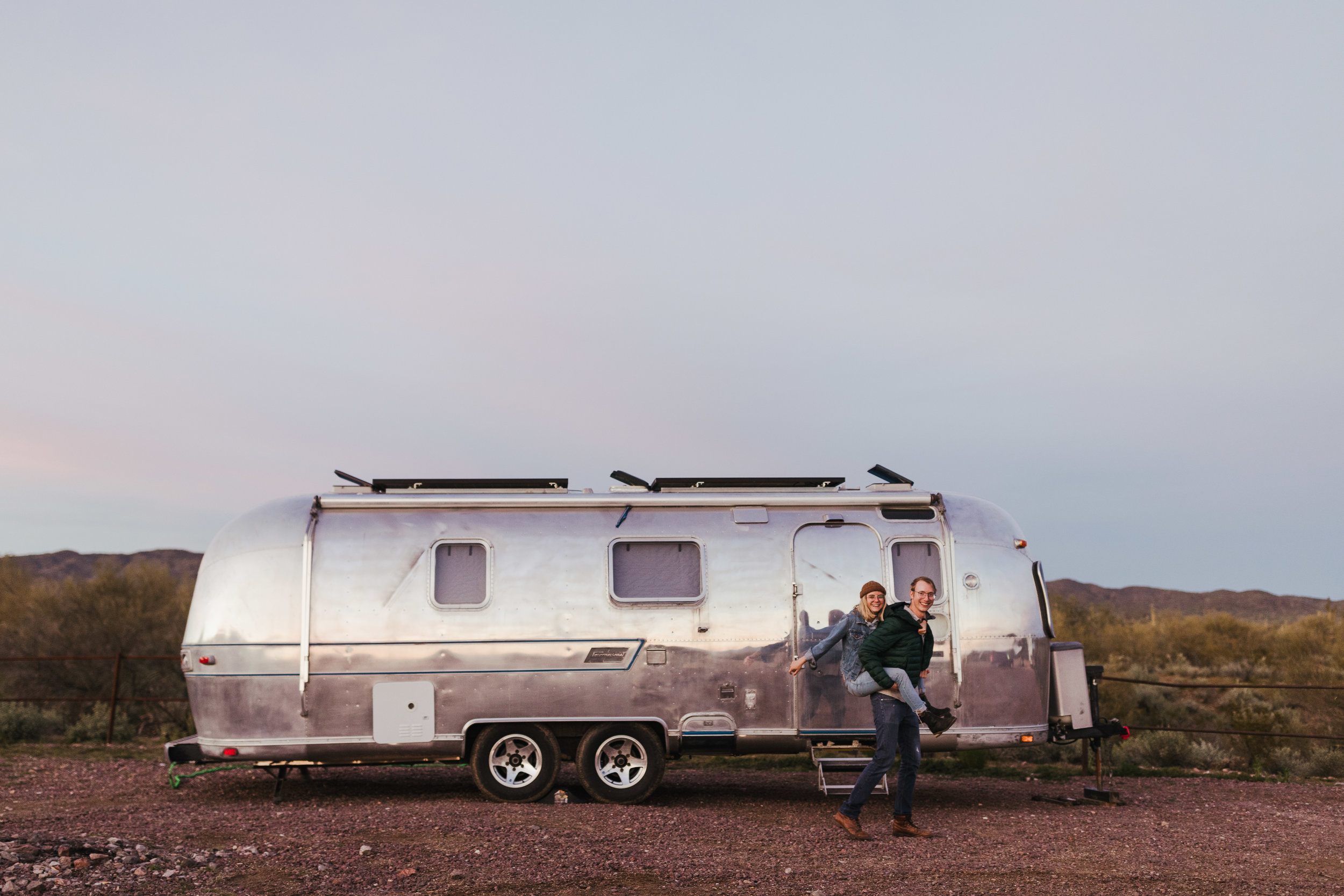 Nate and Megan on BLM land in Arizona