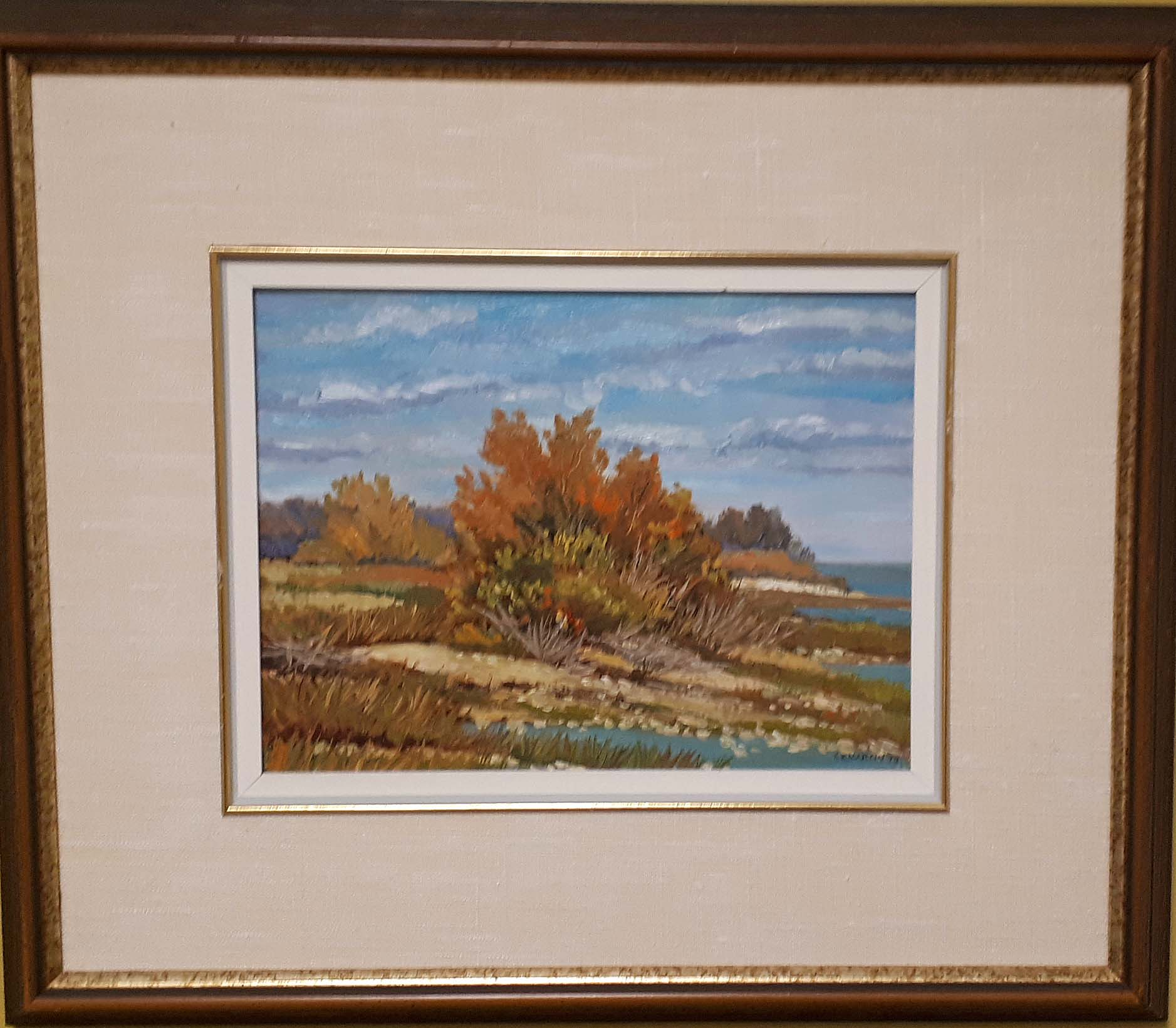 "Ken Martin MSA, ""September Day"" Ponemah Beach, 1977, Size: 19 x 21, Price: 265.00 0r 475.00 pair"