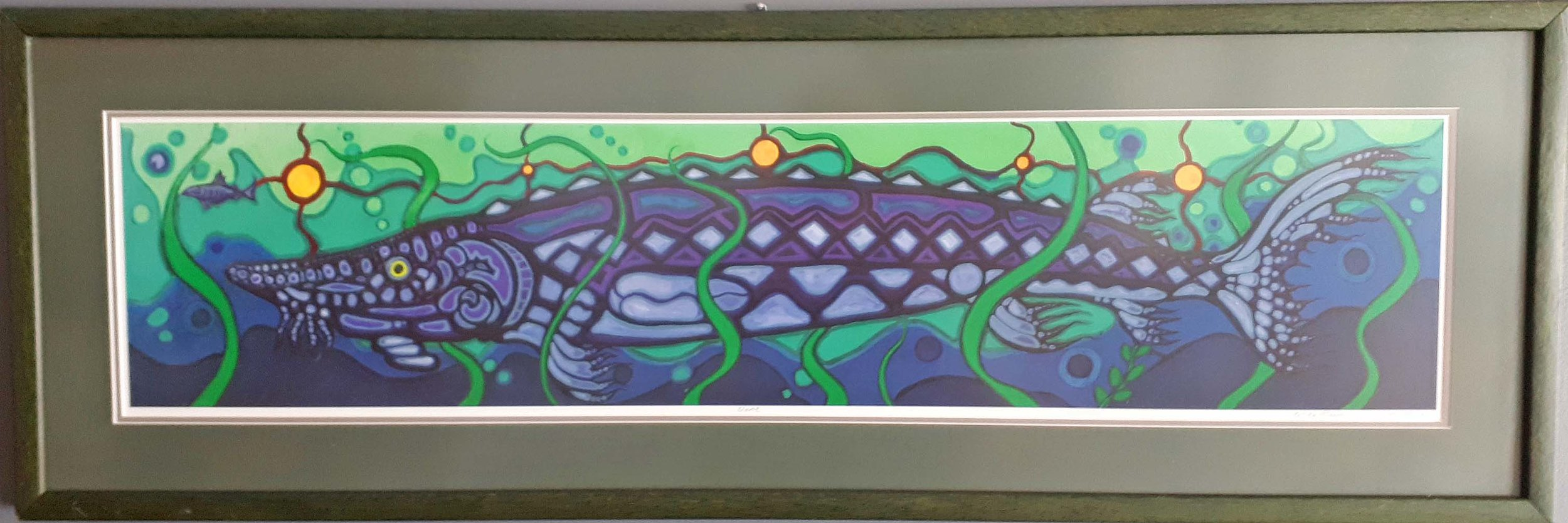 "Kelley Morrell, Kenora, Original Print 7/400, ""Name"", Size: 40 x 14, Price: 195.00"