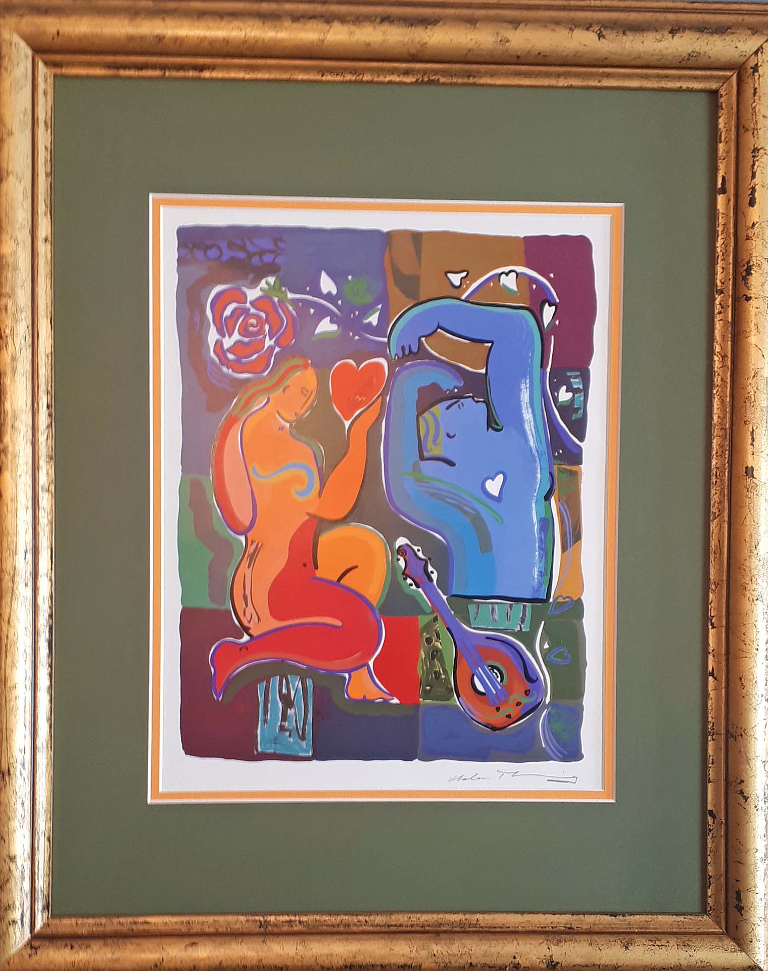 "Helen Manning, U.K., Print 1992, ""Music of Love"", Size: 20 x 25, Price: 175.00"