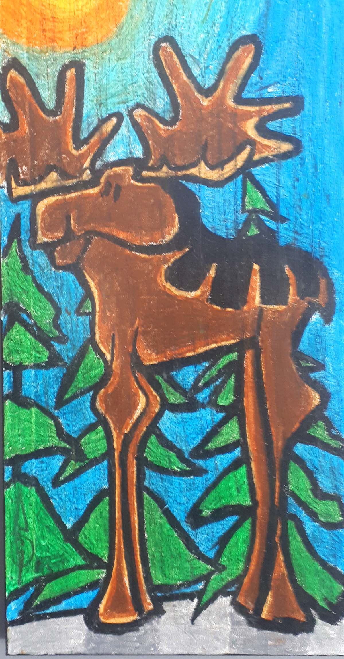 "Steve Gerow, Ontario, ""Moose"", Size: 15 x 30, Price: 245,00"