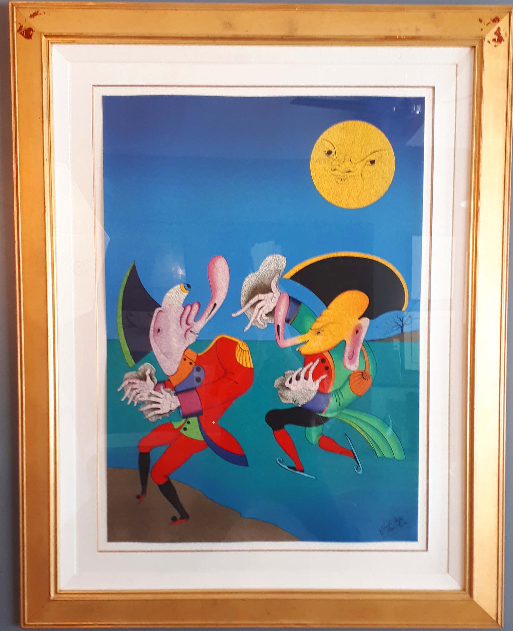 Mihail Chemaikin, Russia, Original Lithograph 117/195, Size: 40 x 51, One of Three, Est. Value 11,000.00 for the Set, Price: 3,500.00 for the set of three