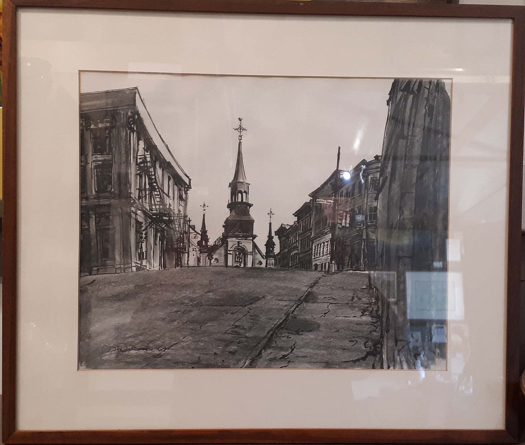 Richard Dinnis Wilson (1920-1994) Montreal, Graphite and Ink, Size: 21 x 17, Price: 135.00