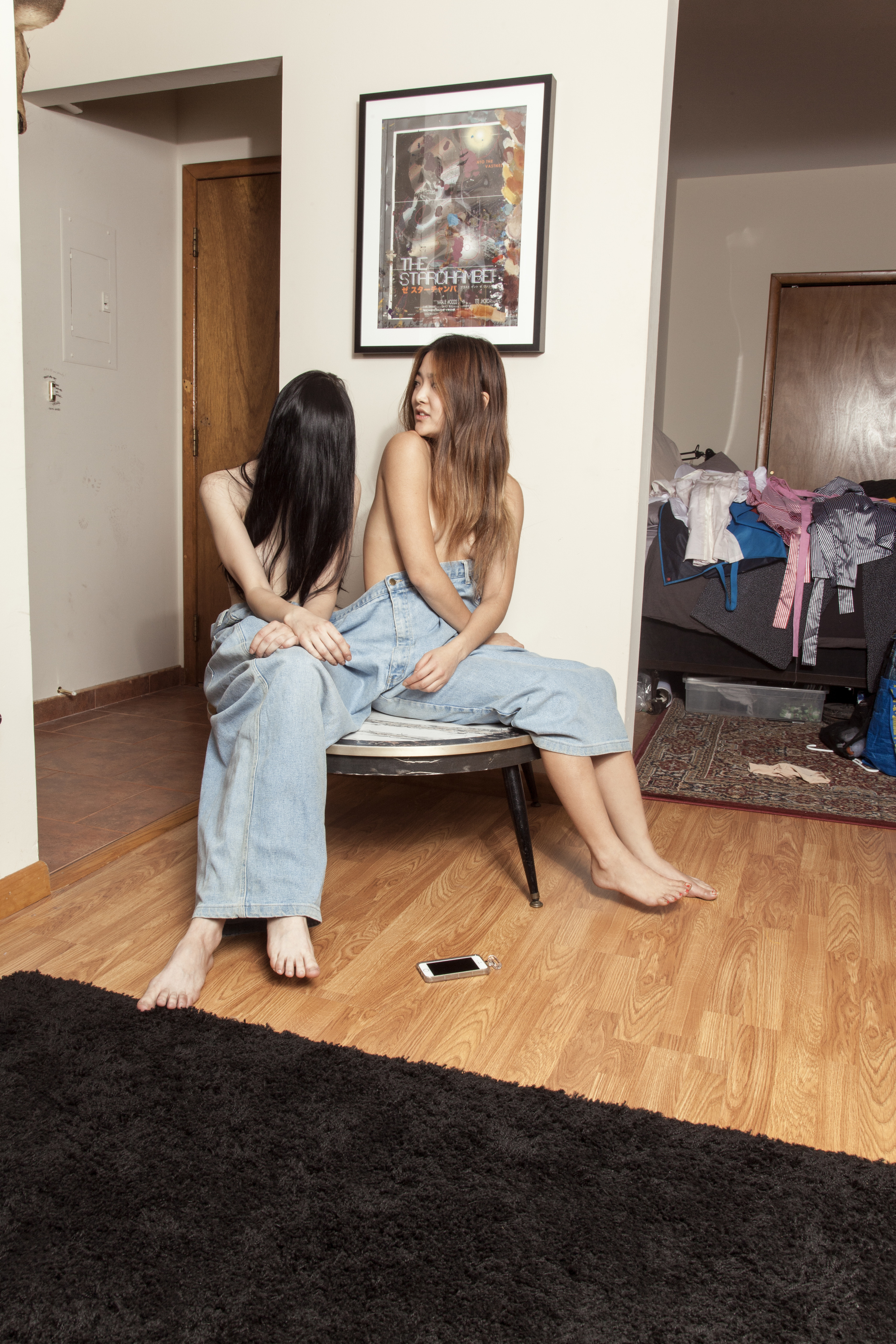Masha and Hanna wear Stylist's Own Jeans
