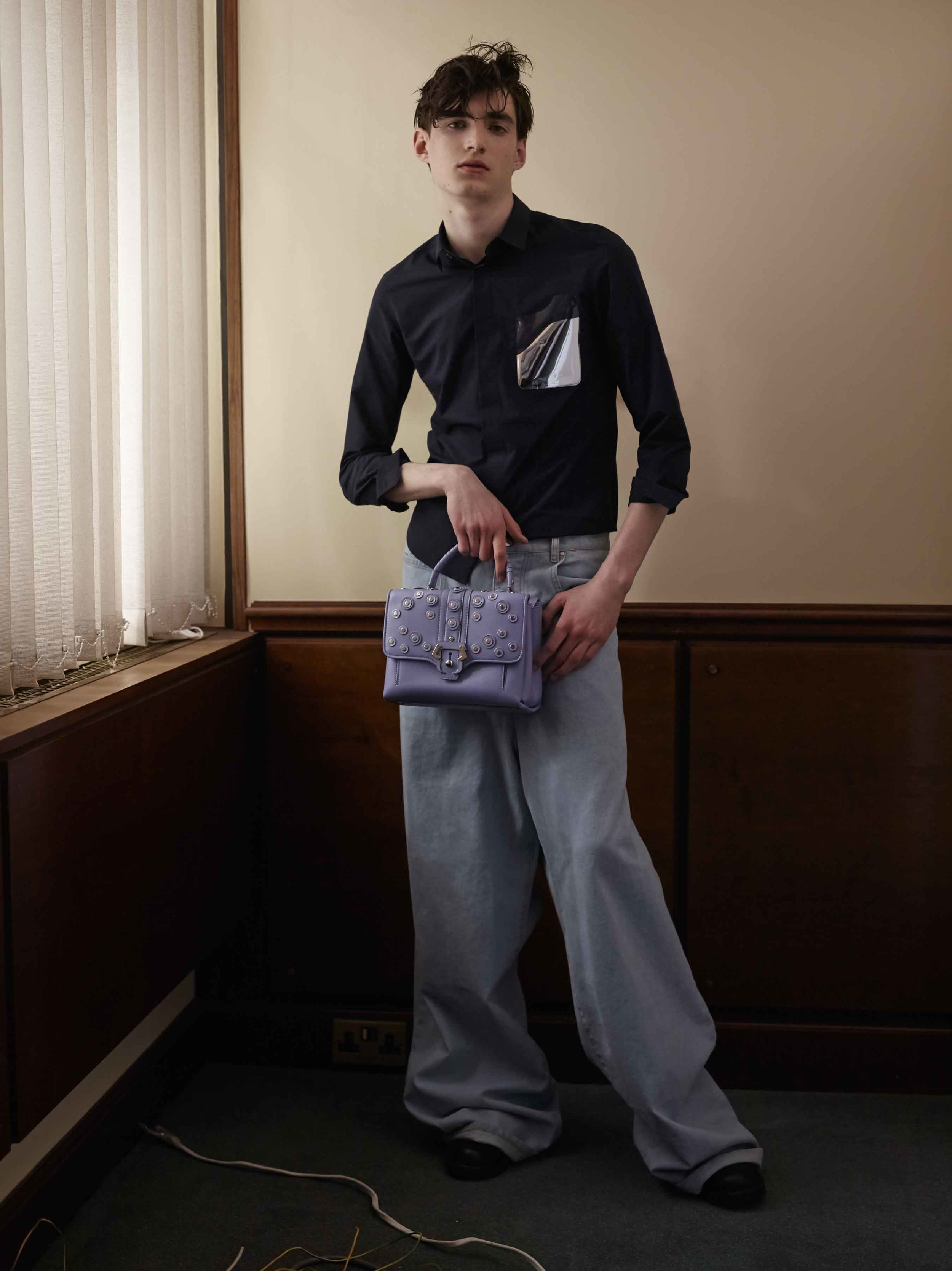 Shirt by Toga Jeans by Martine Rose Bag by Paula Cademartori Shoes by Rory Parnell Mooney