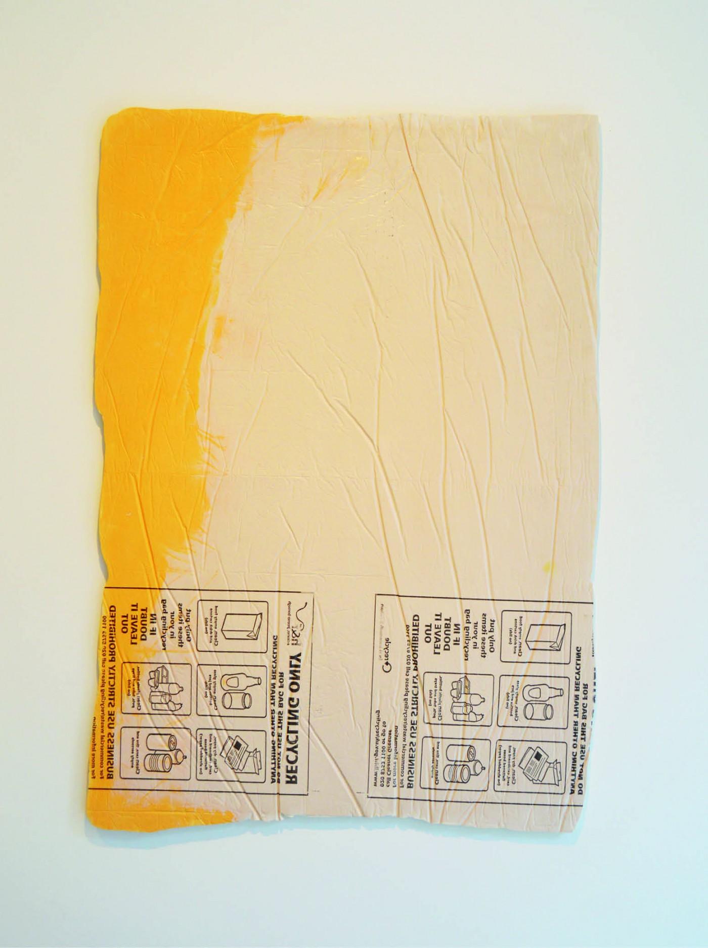 ' PE9 Recycled ', Composite, Pigment, Acrylic. 116 x 82 cm | 2015
