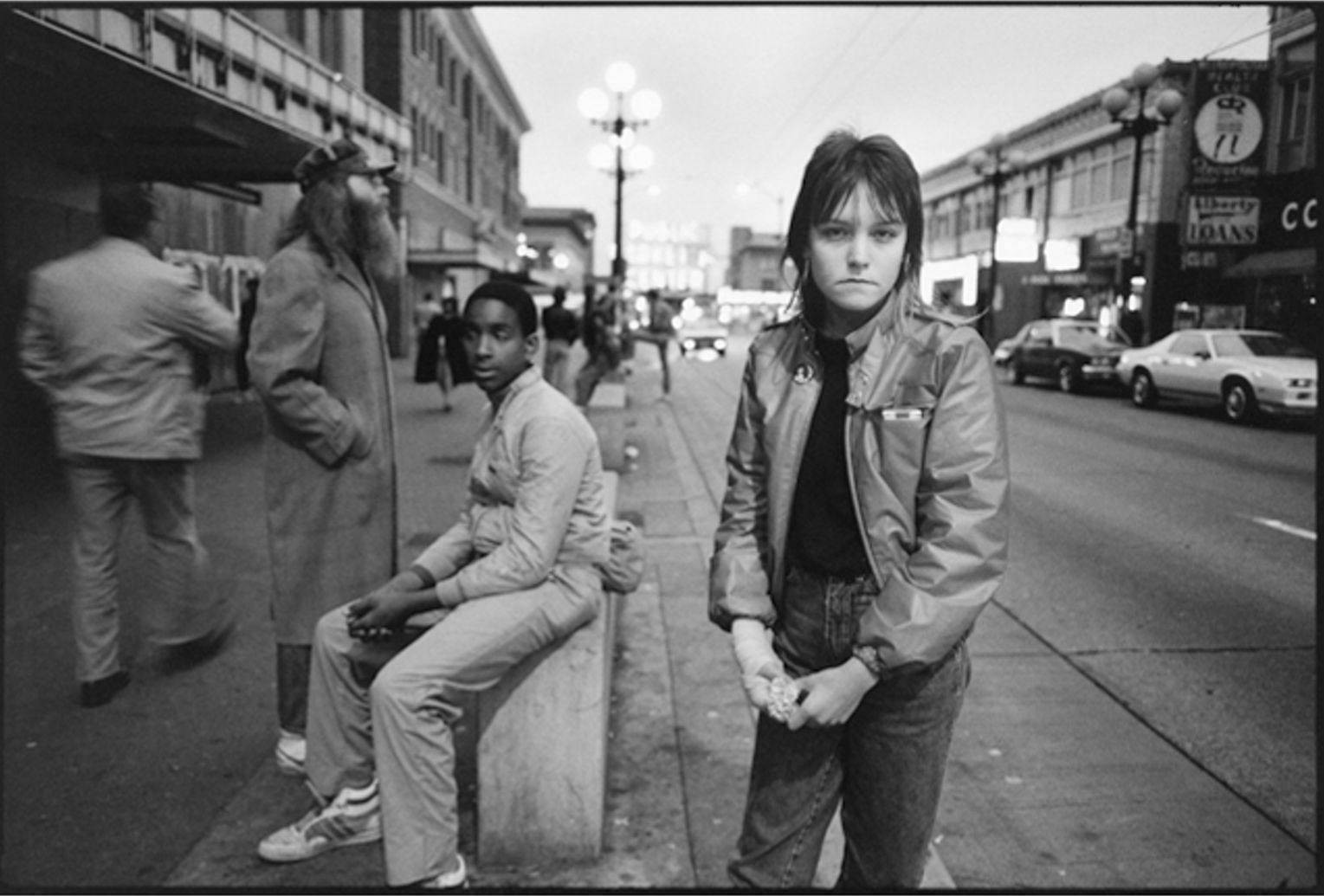 Tiny on Pike Street. Seattle, Washington, 1983.  Photography by Mary Ellen Mark