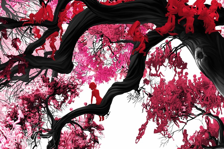 Red Sugar Maple  - from S  eason S  eries: C-Print on Acrylic