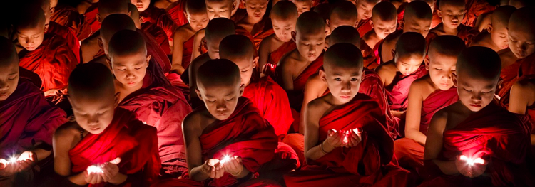 Buddhist Novices, Mahagandayon Monastery, Myanmar