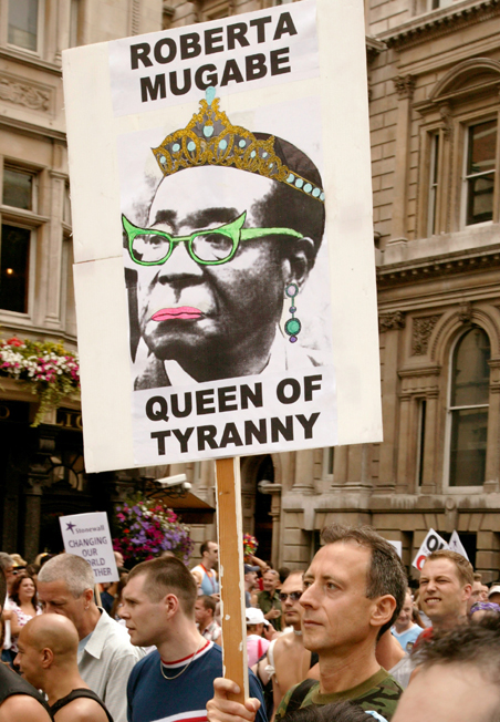Mugabe Protest at Pride London, 2011