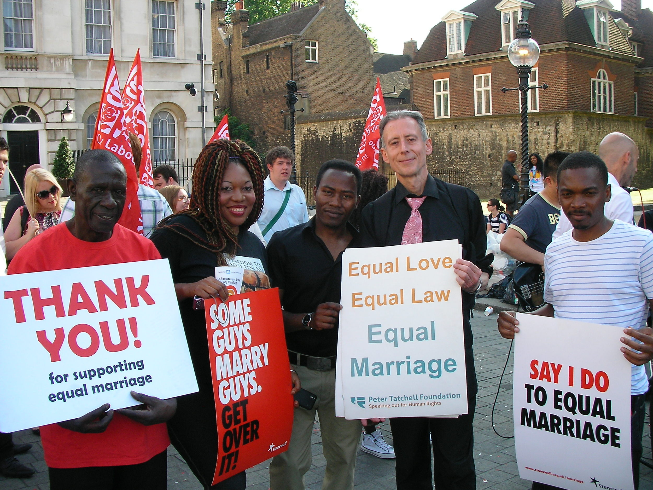 Same-sex marriage - Lords rally,4 June 2013