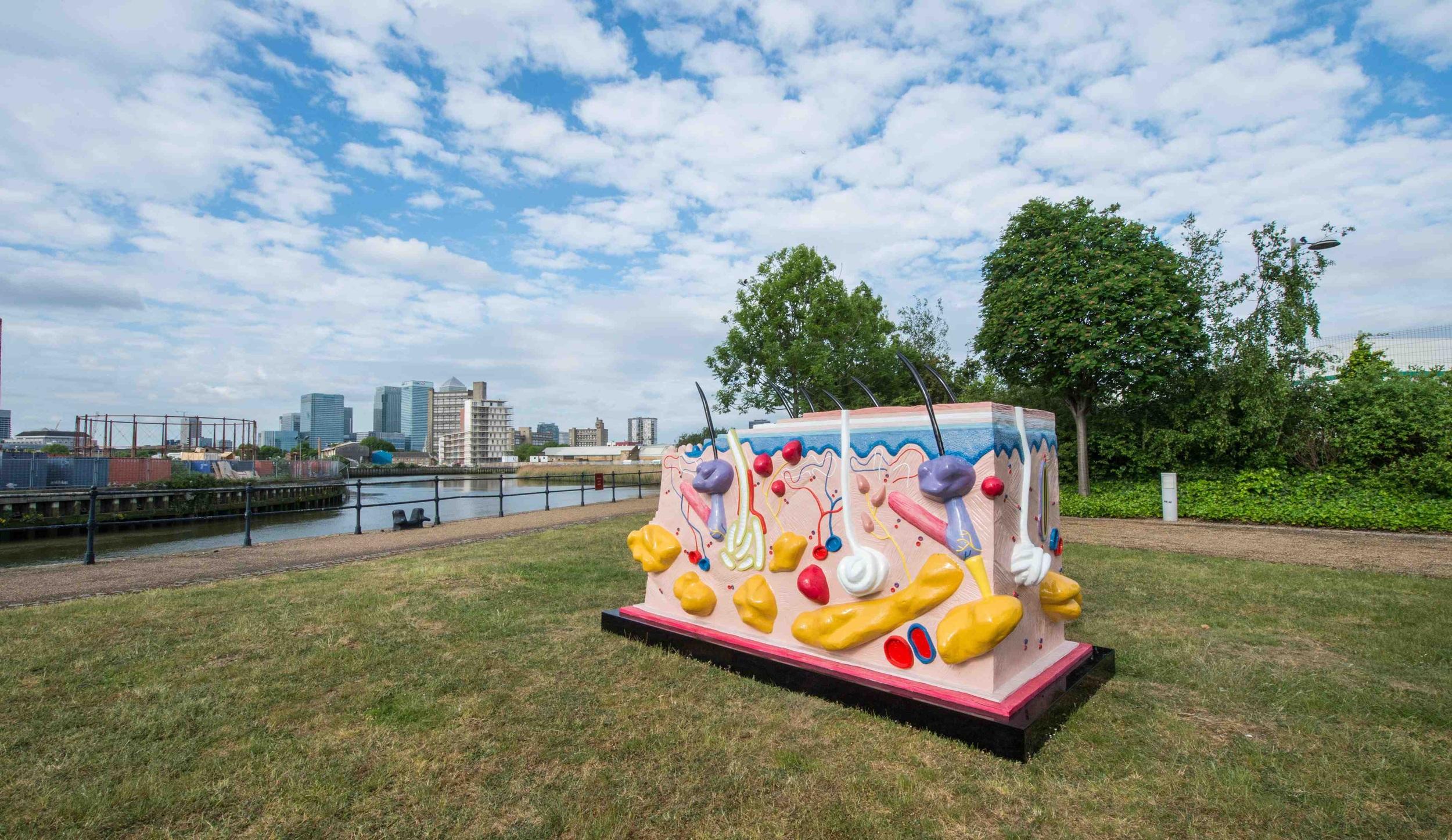 Damien Hirst 'Sensation'on Cody Dock, Newham