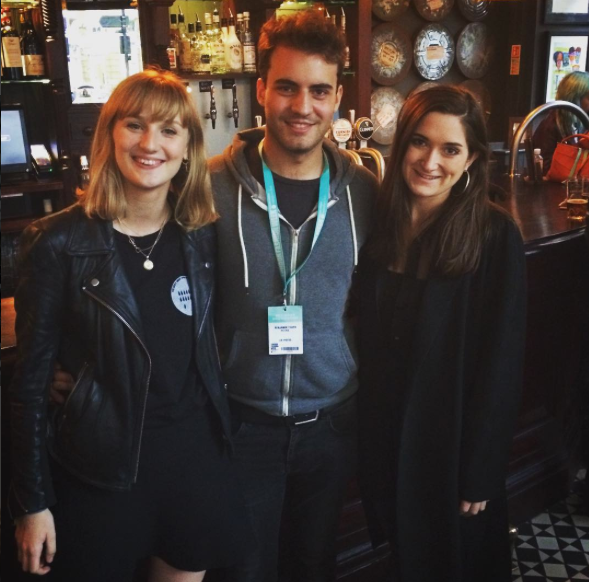 PETRIe TV team: Charlotte Sutherland-Hawes, Edward Piper and Elizabeth Neep