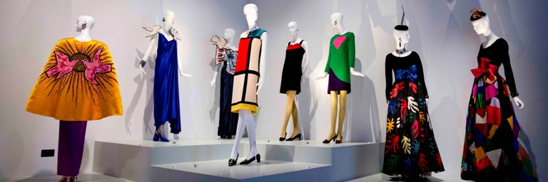 Art & its influences on Yves Saint Laurent's designs - one of the themes in the exhibition