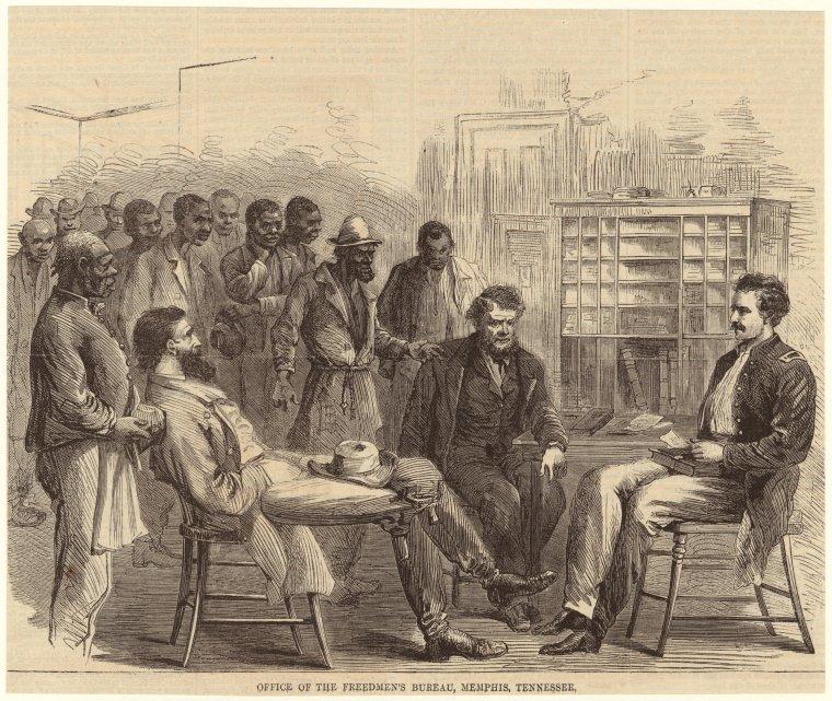 The Freedmen's Bureau office in Memphis, Tennessee, 1866.