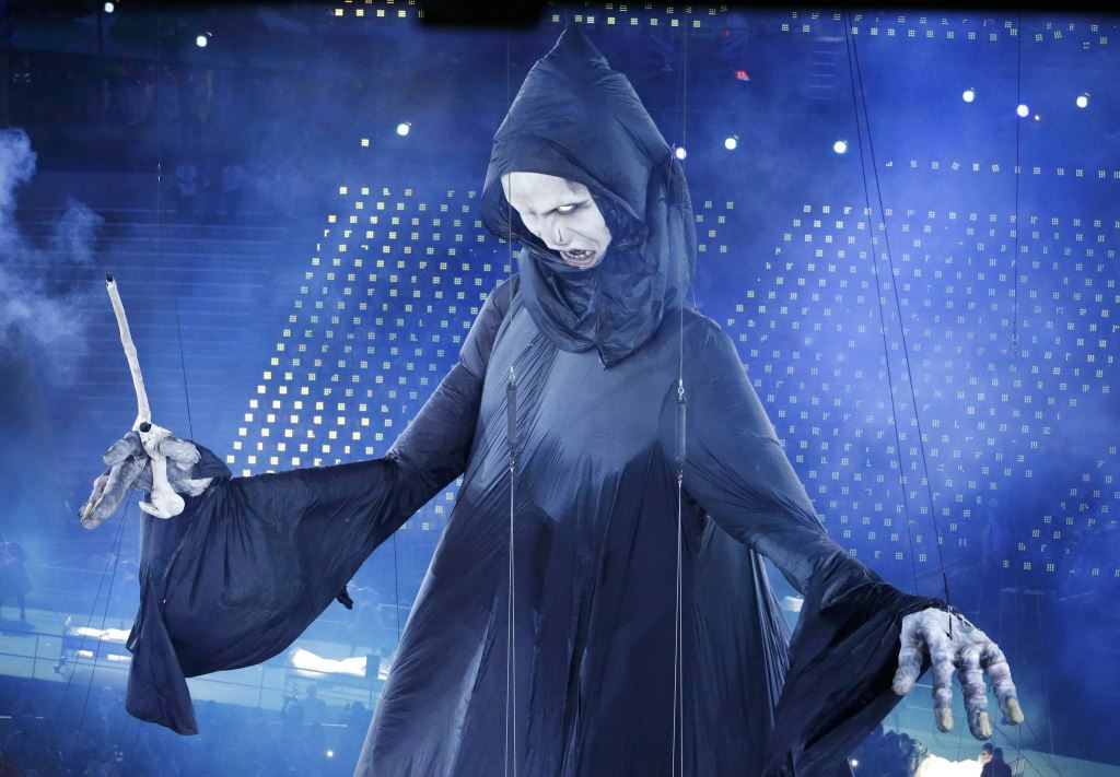 Voldemort puppet at Olympic Opening Ceremony which rose to 20m high