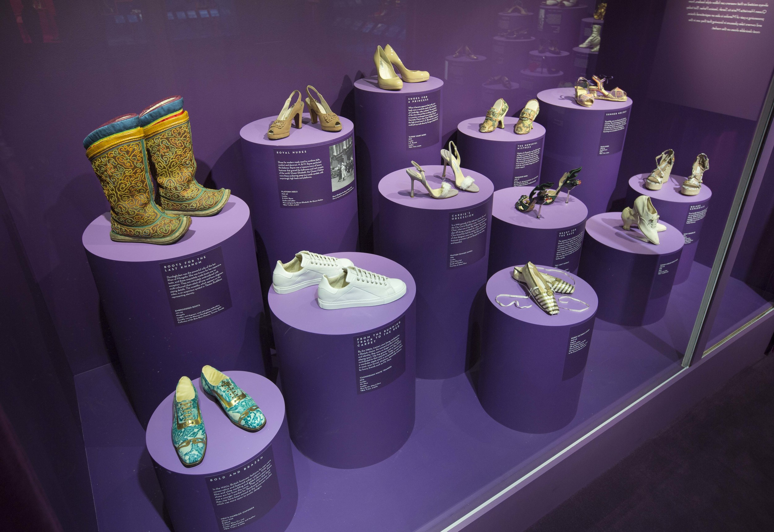 Installation view of  Shoes: Pleasure and Pain