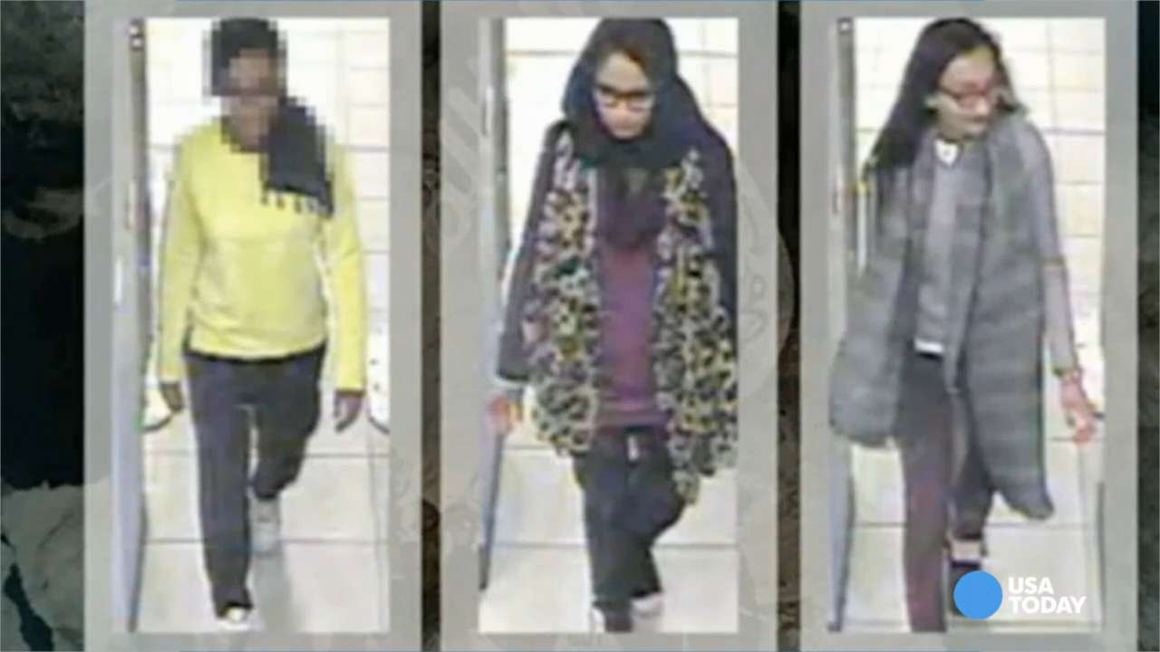 Shamima Begum, Amira Abase and Kadiza Sultana,the three east London schoolgirls who fled to join Islamic State in Syria.