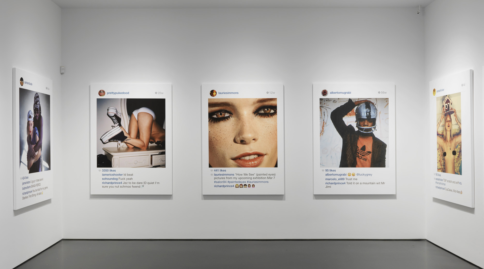 Richard Prince  '  s 'New Portraits' exhibition   at   Gagosian  New York   Gallery, 2014