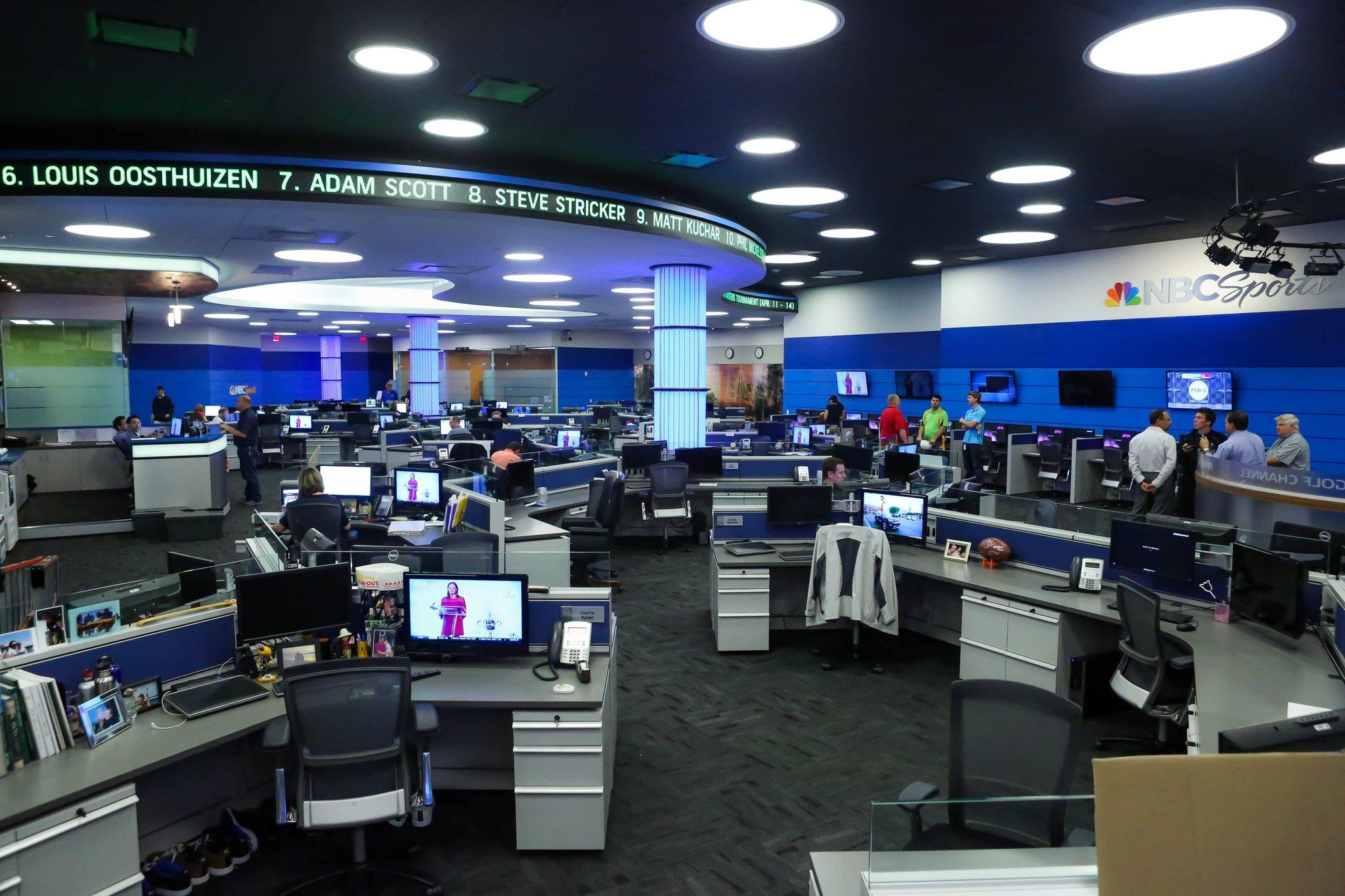 NBC Sports news room